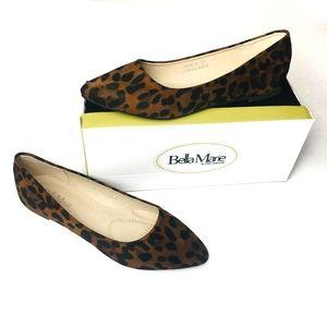 BELLA MARIE Leopard Suede Flats NWT